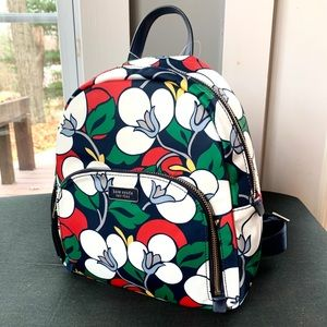 NWT Kate Spade multi color backpack